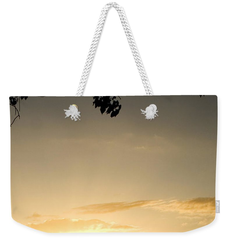 Maui Gold Weekender Tote Bag featuring the photograph Maui Gold by Chris Brannen