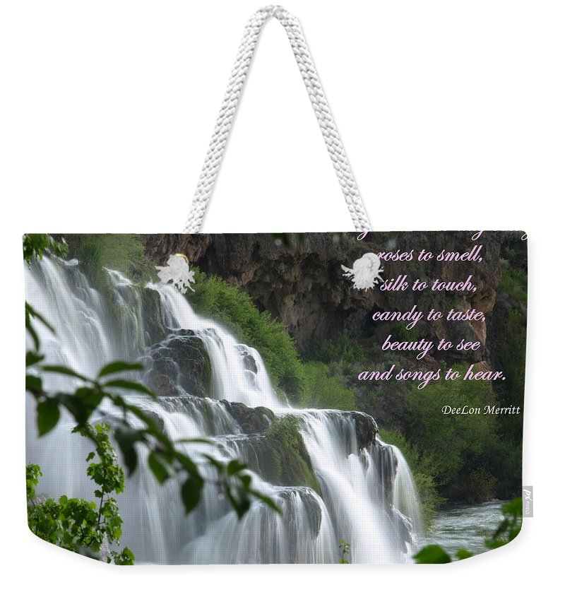 Waterfall Weekender Tote Bag featuring the photograph May Each New Day Bring... by DeeLon Merritt