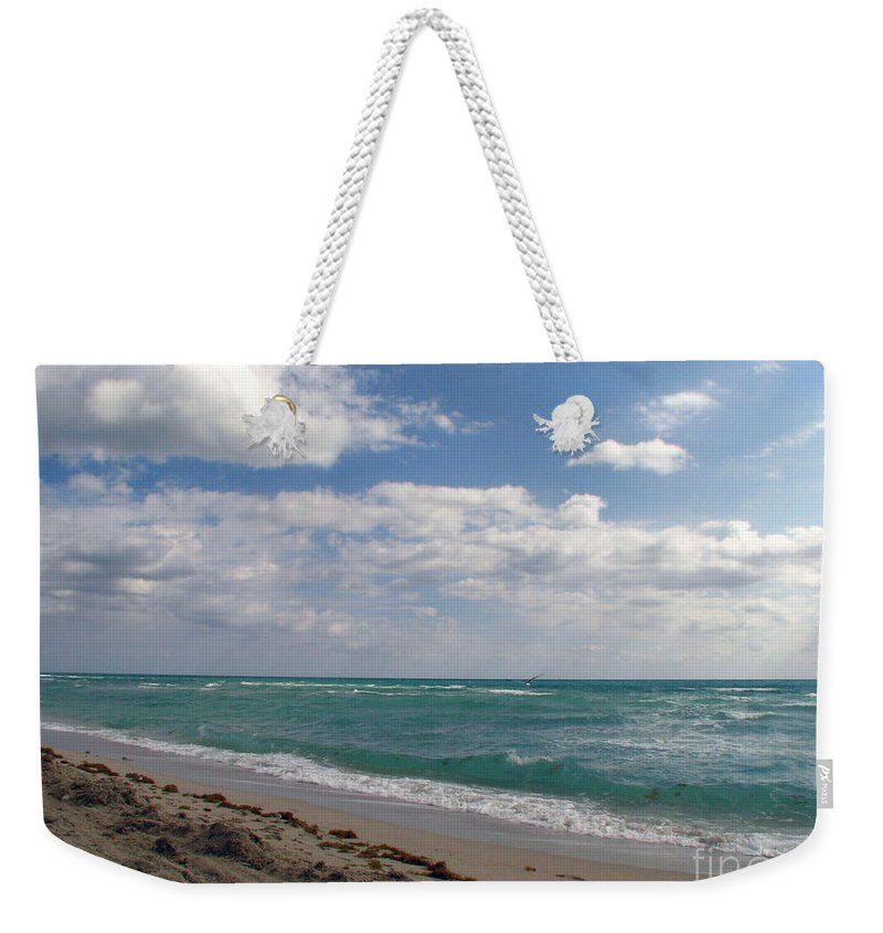 Miami Beach Weekender Tote Bag featuring the photograph Miami Beach by Amanda Barcon