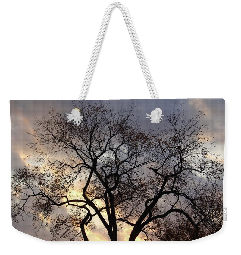 Leaves Weekender Tote Bag featuring the photograph Michigan Drama by Joseph Yarbrough