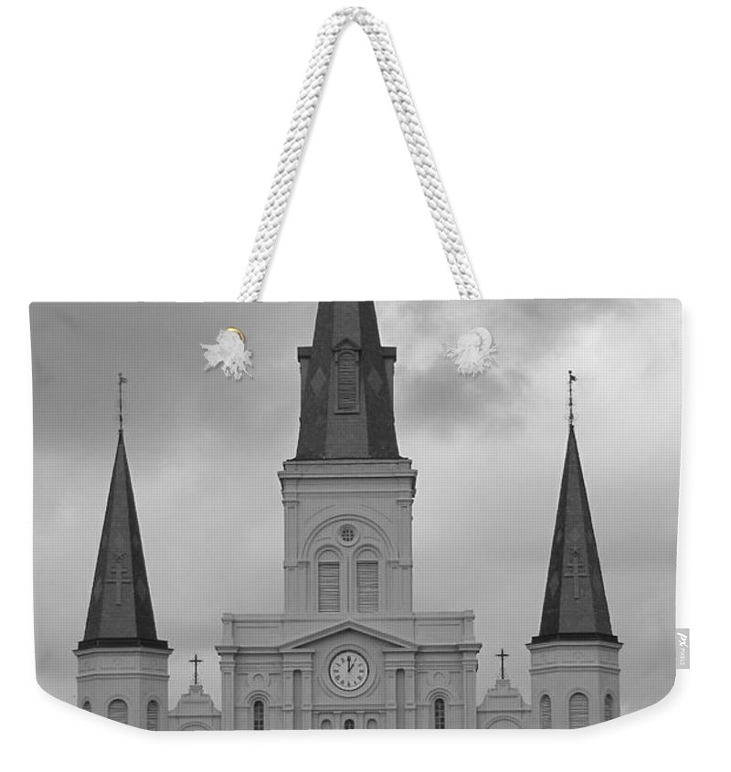 French Quarter Weekender Tote Bag featuring the photograph Model Church by Michelle Powell