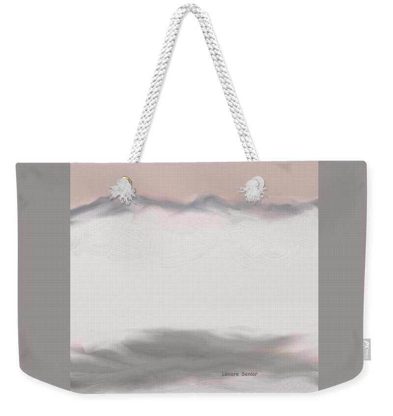 Abstract Weekender Tote Bag featuring the painting Moguls by Lenore Senior