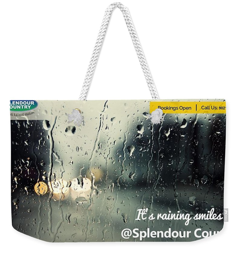 Adventure+sports+in+pune Weekender Tote Bag featuring the digital art Monsoon Special One Day Picnic Spot Near Khadakwasla Splendour Country by Splendour Country
