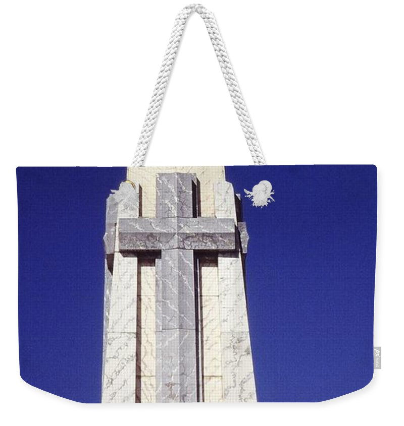 Central America Weekender Tote Bag featuring the photograph Monumento Al Divino Salvador Del Mundo by Juergen Weiss