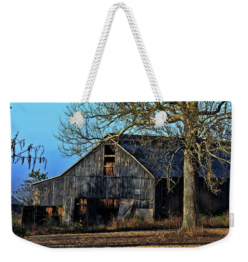 Barn Weekender Tote Bag featuring the photograph Morning Sun by Bob Welch
