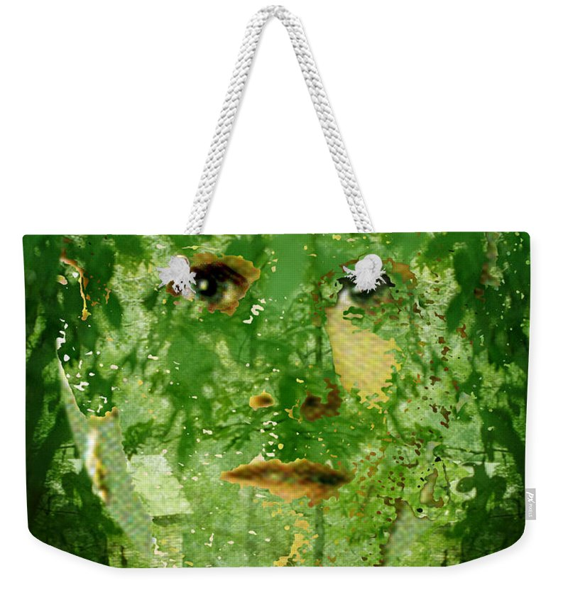 Lady Weekender Tote Bag featuring the digital art Mother Nature by Seth Weaver