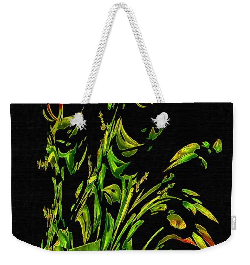 Asian Weekender Tote Bag featuring the painting Motif Japonica No. 5 by RC DeWinter