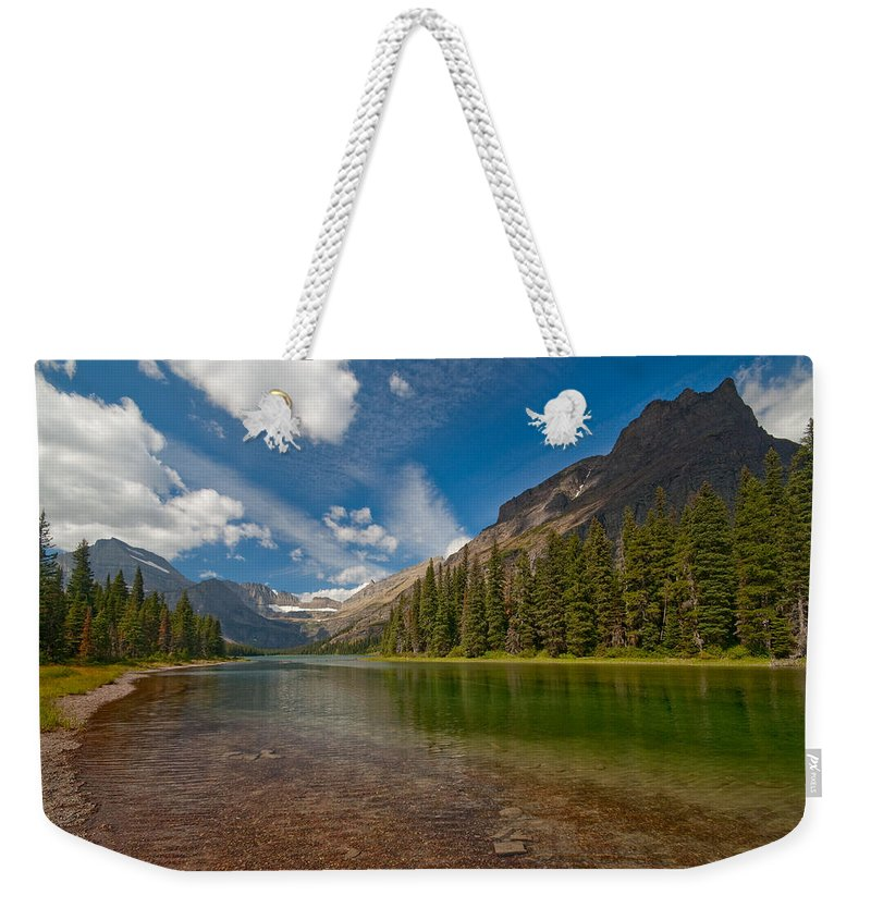 Nature Weekender Tote Bag featuring the photograph Moutain Lake by Sebastian Musial