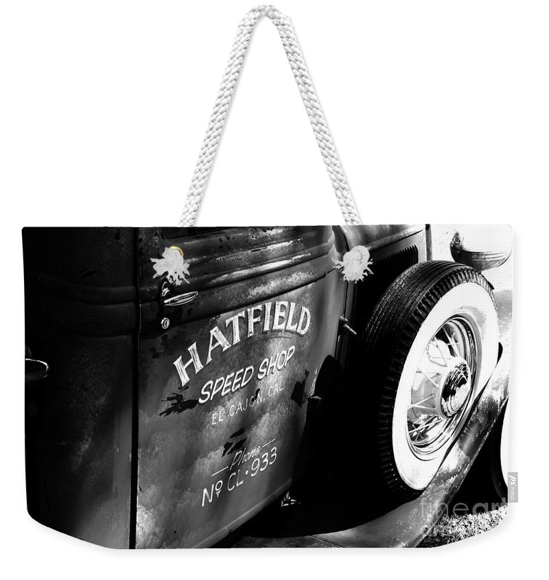 Port Washington Wisconsin Weekender Tote Bag featuring the photograph Mr. Fender by Jamie Lynn