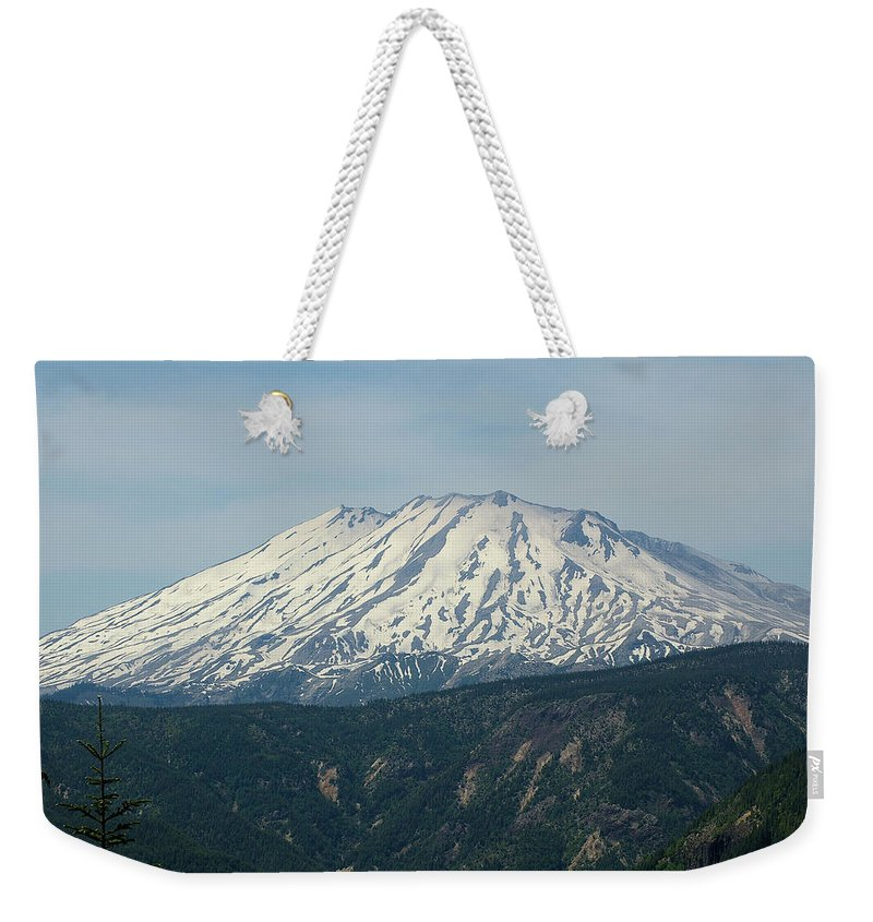 Mountains Weekender Tote Bag featuring the photograph Mt St Helens by Jeff Swan