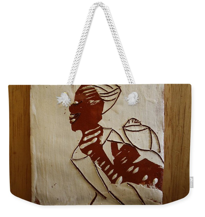 Jesus Weekender Tote Bag featuring the ceramic art Mums Love - Tile by Gloria Ssali