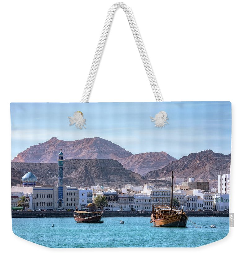 Blue Mosque Weekender Tote Bag featuring the photograph Muscat - Oman by Joana Kruse