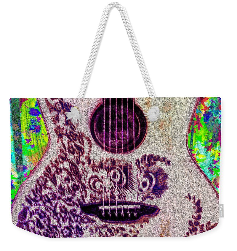 Music Weekender Tote Bag featuring the photograph Music Is Life by Bill Cannon