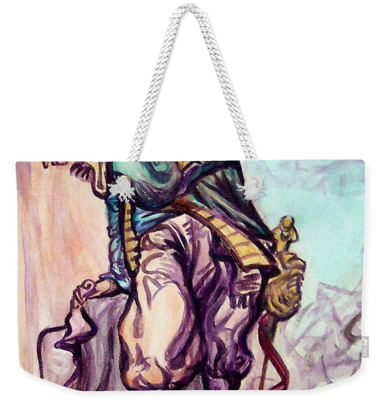Musketeer Weekender Tote Bag featuring the painting Musketeer by Kevin Middleton