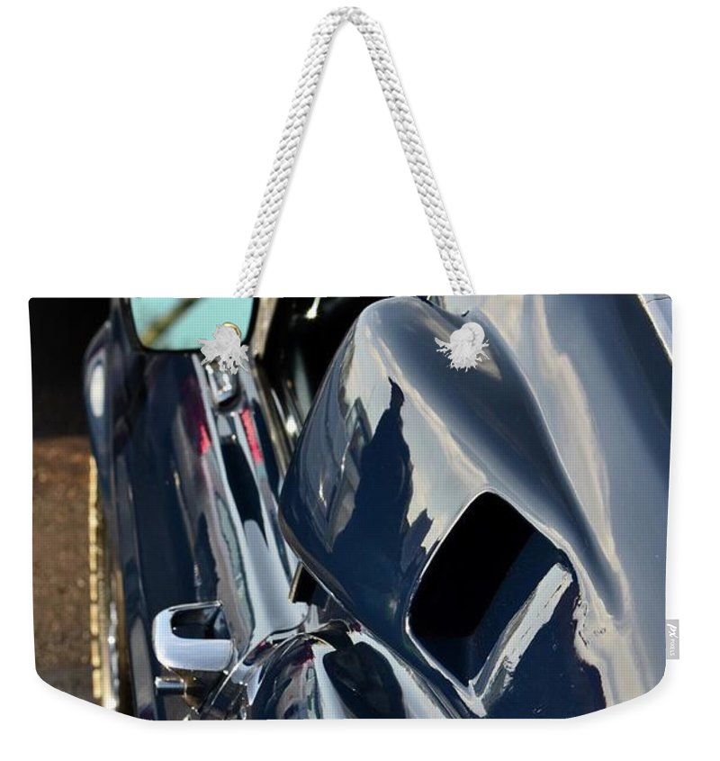 Weekender Tote Bag featuring the photograph Mustang Shelby Details by Dean Ferreira