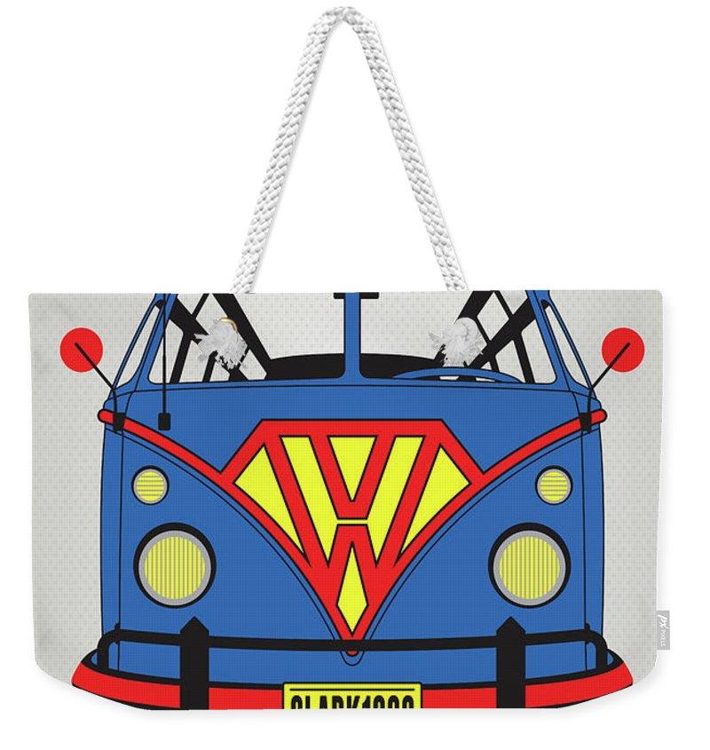 Superheroes Weekender Tote Bag featuring the digital art My Superhero-vw-t1-superman by Chungkong Art