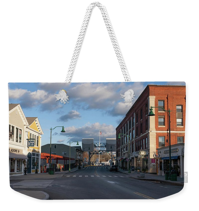 Mystic Weekender Tote Bag featuring the photograph Mystic Connecticut by Kirkodd Photography Of New England