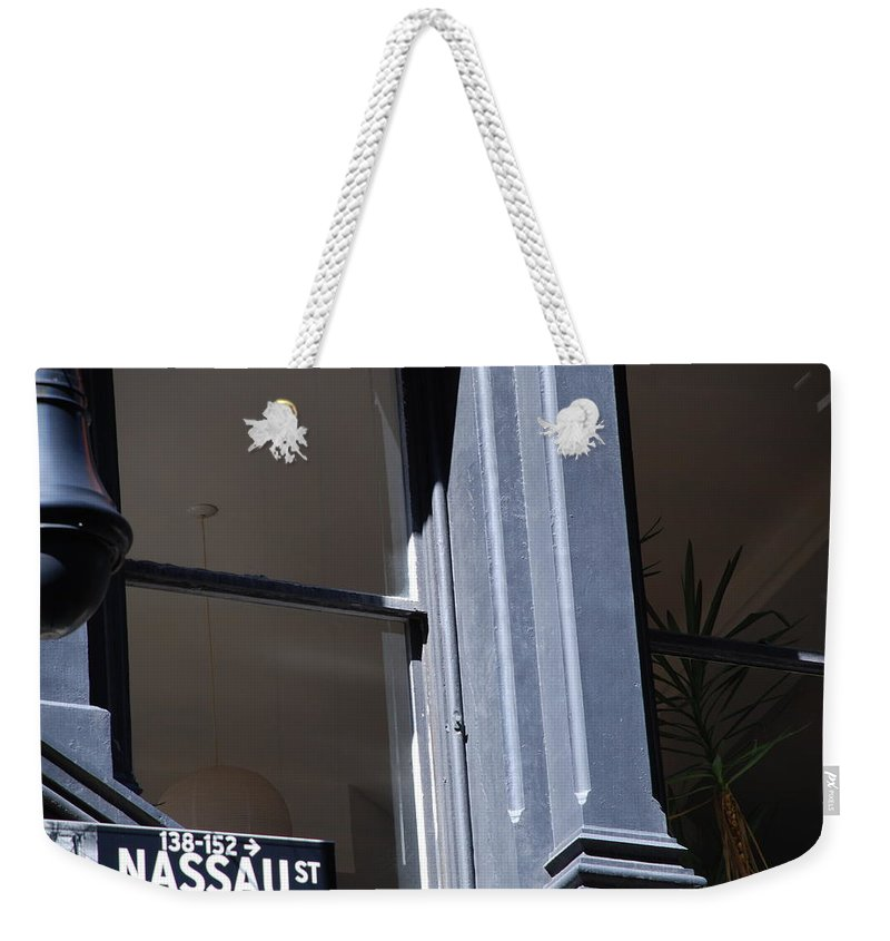 New York City Weekender Tote Bag featuring the photograph Nassau Street by Rob Hans