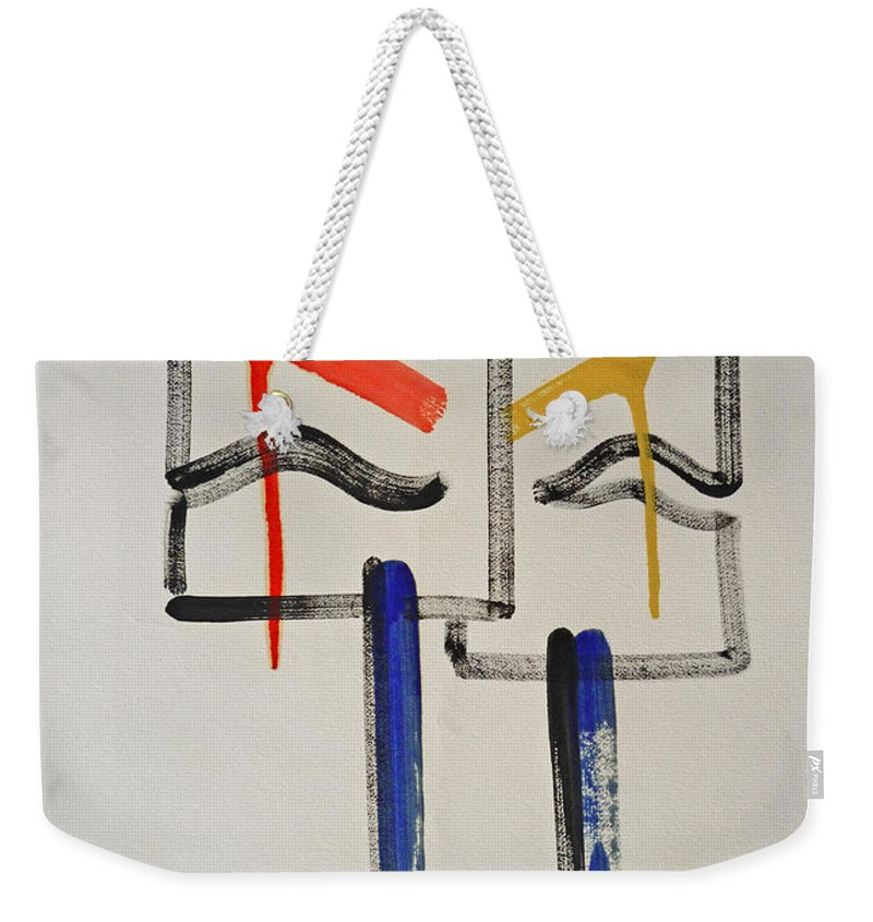 Native American Weekender Tote Bag featuring the painting Native Americans by Charles Stuart