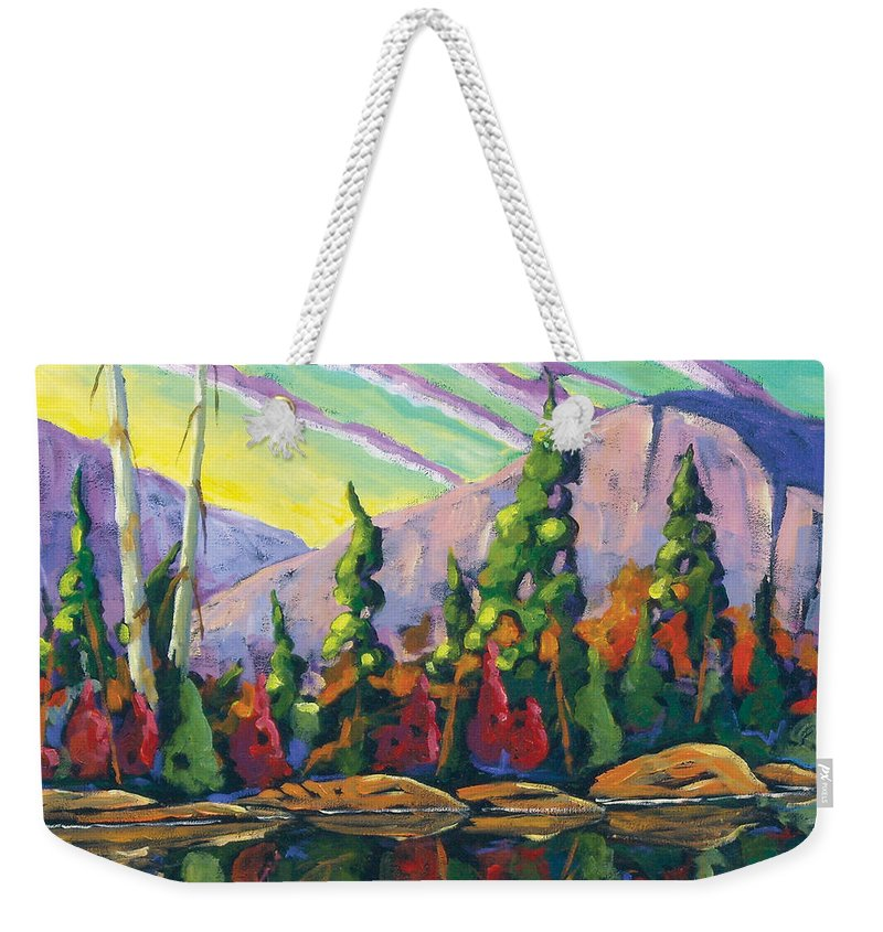 Art Weekender Tote Bag featuring the painting Nature Expression by Richard T Pranke