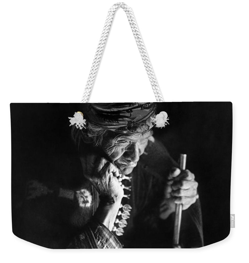 1915 Weekender Tote Bag featuring the photograph Navajo Man, C1915 by Granger