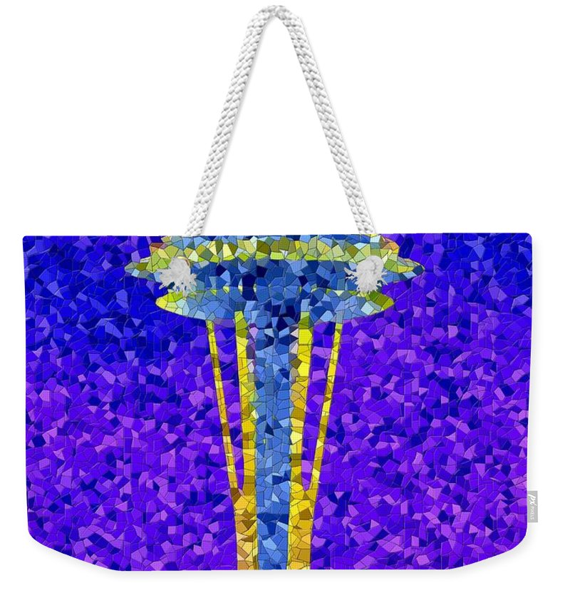 Seattle Weekender Tote Bag featuring the photograph Needle In Mosaic by Tim Allen