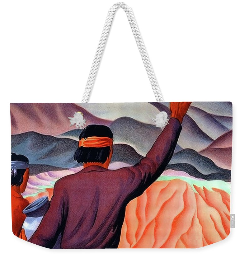 New Mexico Weekender Tote Bag featuring the painting New Mexico And Arizona Rockies by Long Shot