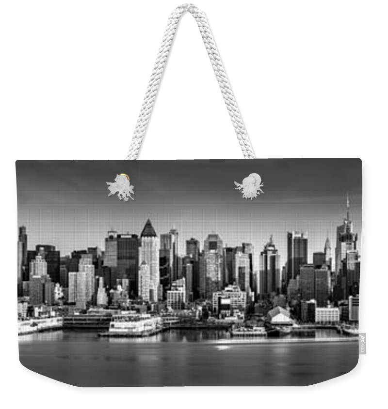 Fine Art Weekender Tote Bag featuring the photograph New York City Panorama by Mihai Andritoiu