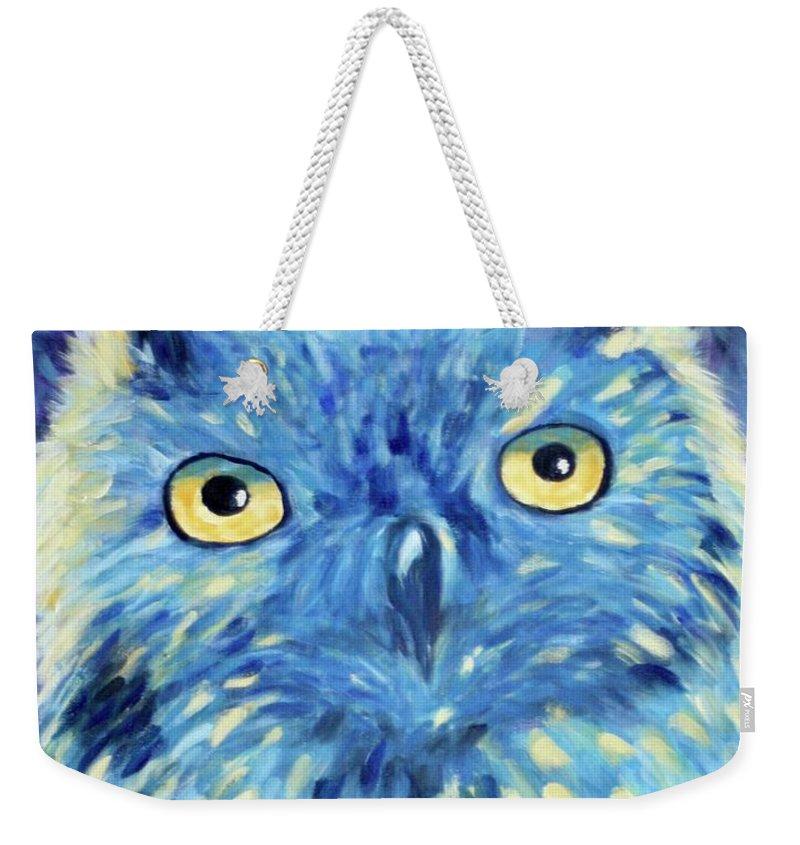 Owl Weekender Tote Bag featuring the painting Night Owl by Melinda Etzold