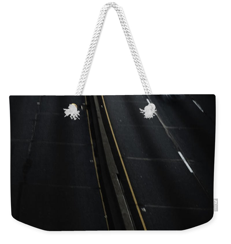 Cars Weekender Tote Bag featuring the photograph Night Traffic by Margie Hurwich