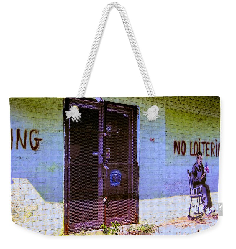 No Loitering Weekender Tote Bag featuring the photograph No Loitering by Dominic Piperata