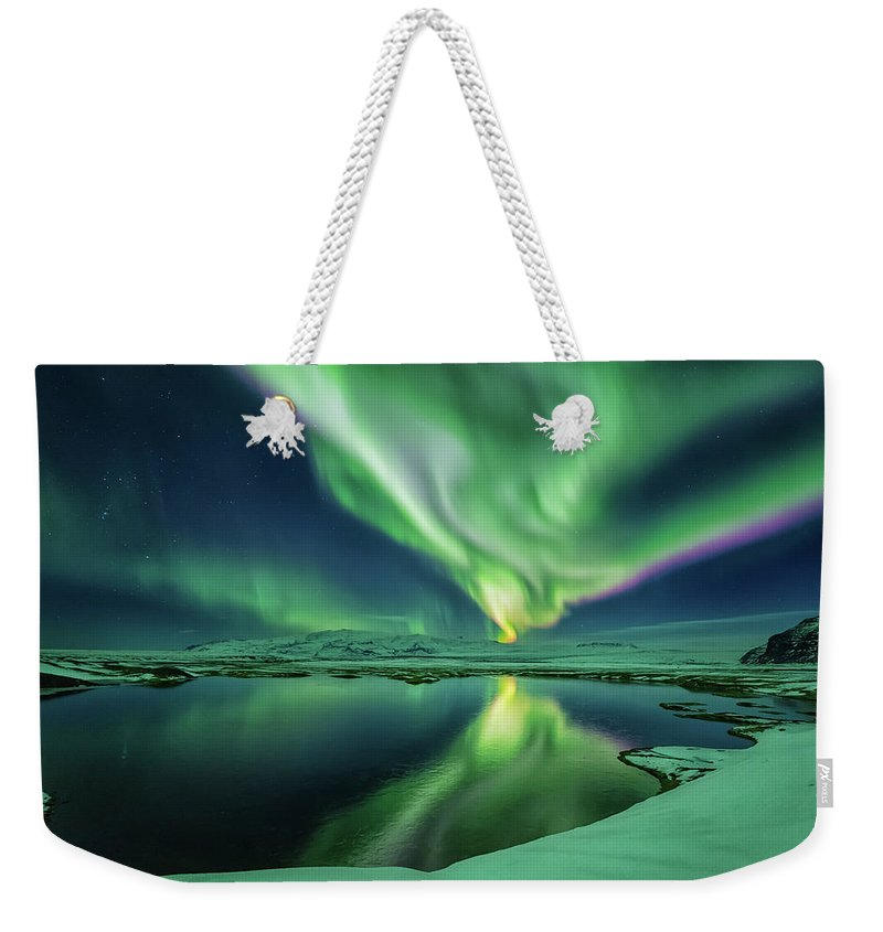 Northern Lights Weekender Tote Bag featuring the photograph Northern Lights by Bragi Kort