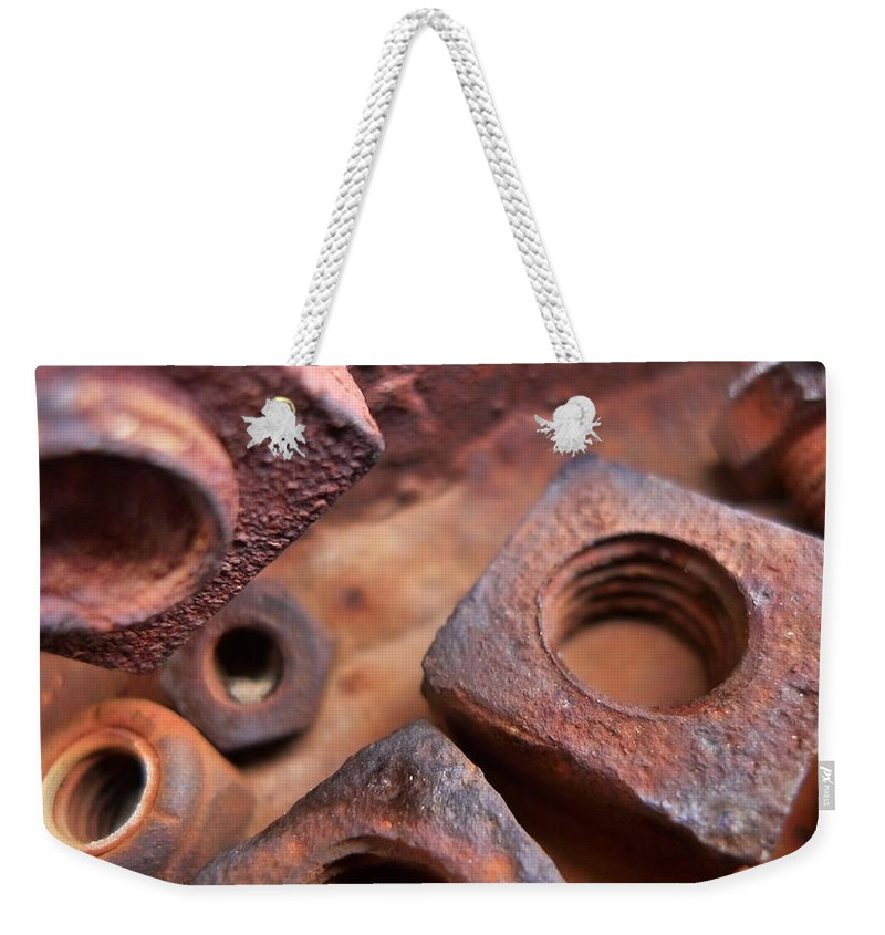 Skip Hunt Weekender Tote Bag featuring the photograph Nutz by Skip Hunt