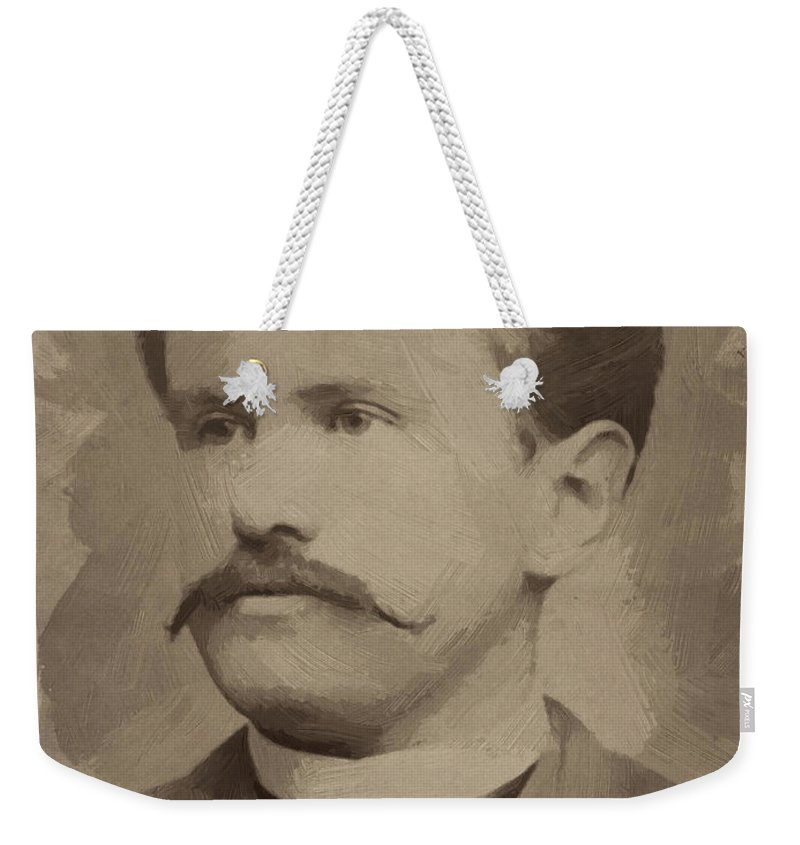 O Henry Weekender Tote Bag featuring the painting O Henry by Afterdarkness