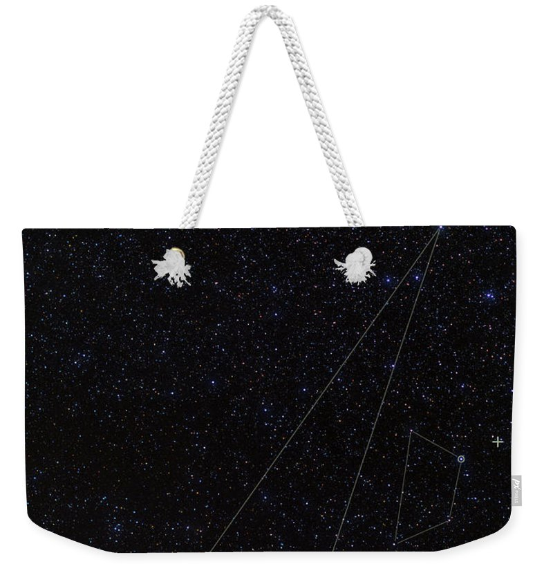 Faint Constellations Weekender Tote Bag featuring the photograph Octans, Apus, South Celestial Pole by Babak Tafreshi