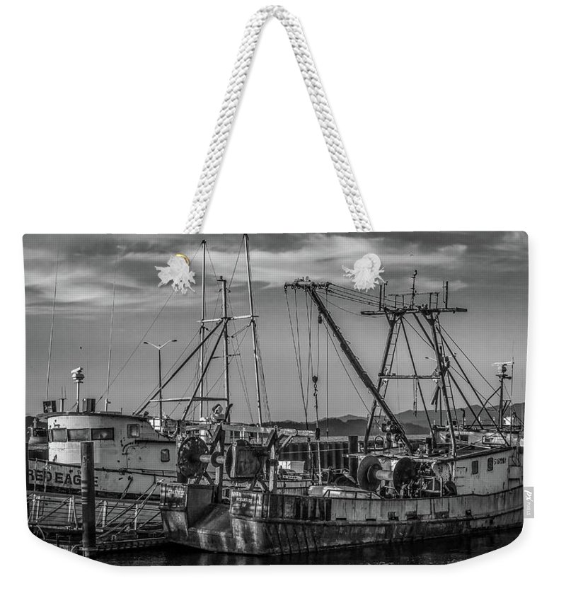 Fishing Boats Weekender Tote Bag featuring the photograph Old Boats by Jason Brooks
