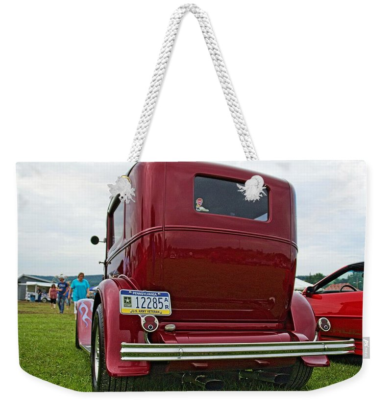 Cars Weekender Tote Bag featuring the photograph Old Car by Karl Rose