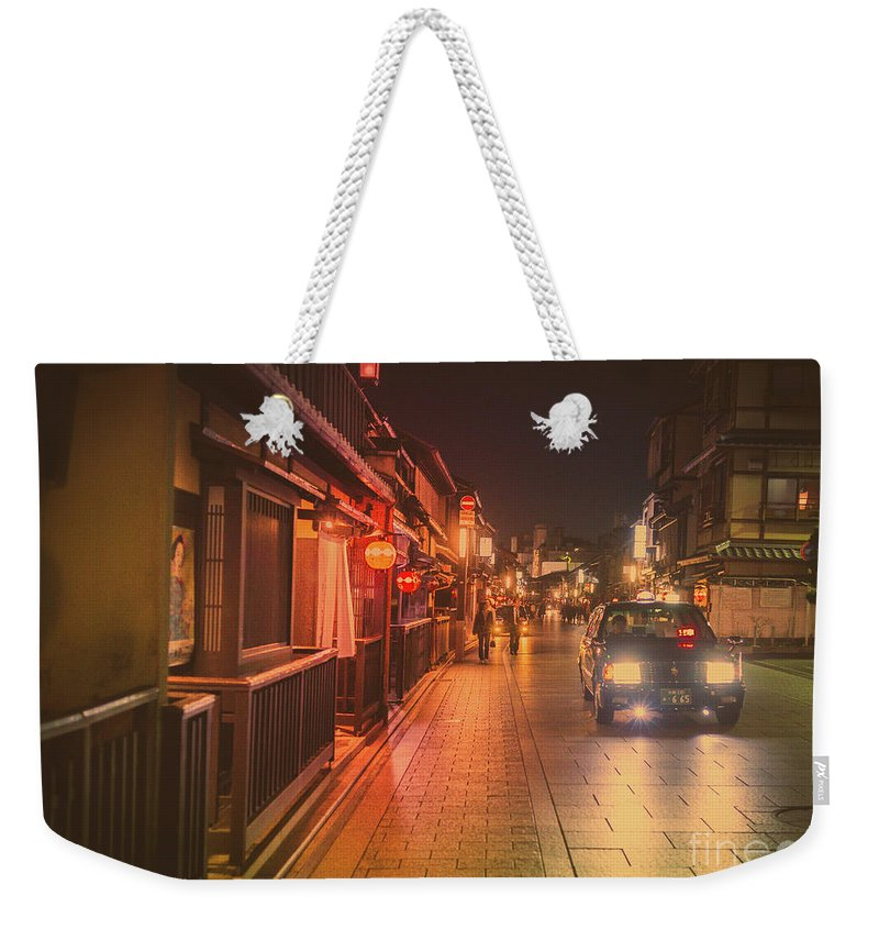 Travel Weekender Tote Bag featuring the photograph Old Kyoto, Gion Japan by Perry Rodriguez