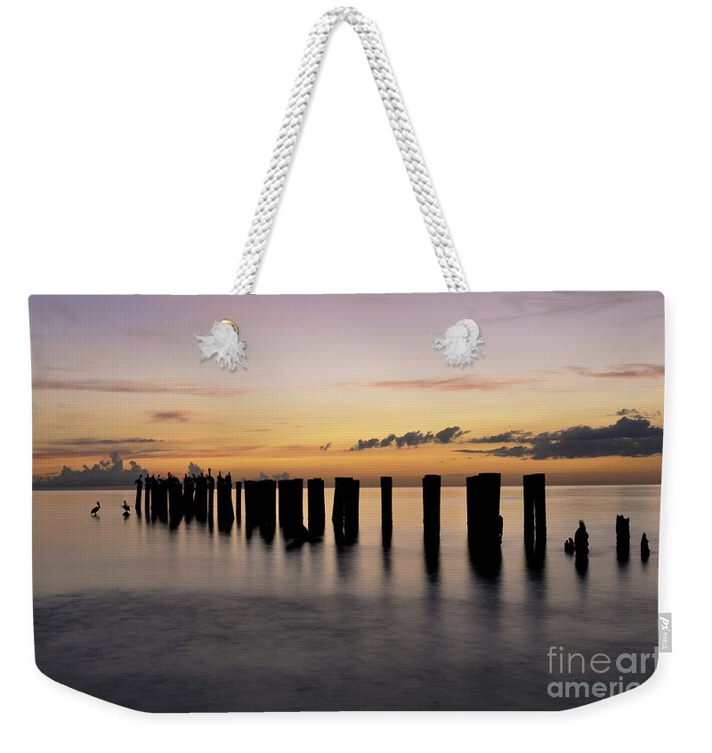Old Naples Pier Weekender Tote Bag featuring the photograph Old Naples Pier by Kelly Wade