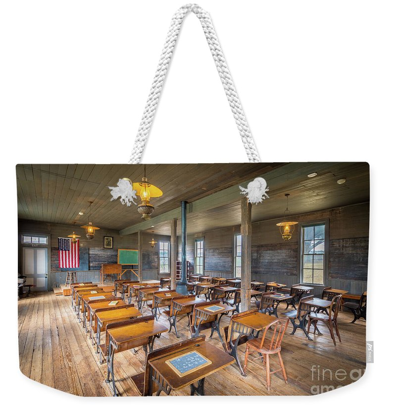 America Weekender Tote Bag featuring the photograph Old Schoolroom by Inge Johnsson