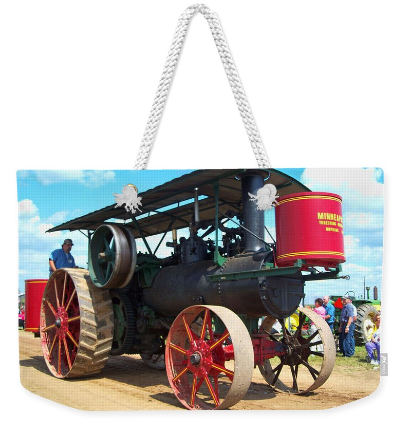 Farming Weekender Tote Bag featuring the photograph Old Timer by Tommy Anderson
