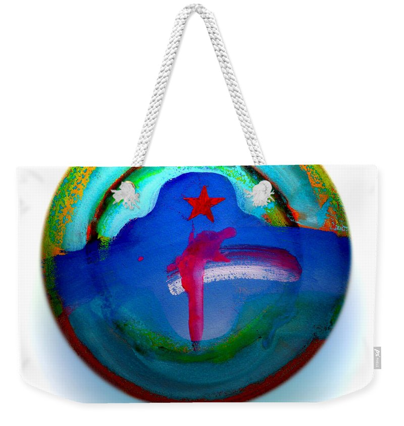 9/11 Weekender Tote Bag featuring the painting One Tower by Charles Stuart