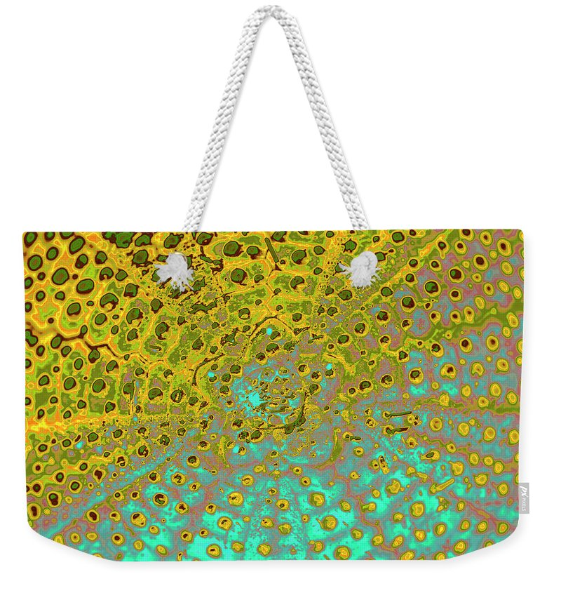 Sea Urchin Weekender Tote Bag featuring the photograph Outer Space by Heiko Koehrer-Wagner