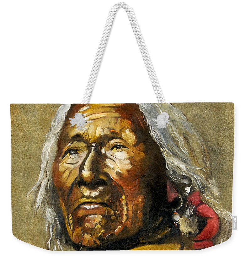 Southwest Art Weekender Tote Bag featuring the painting Painted sands of time by J W Baker