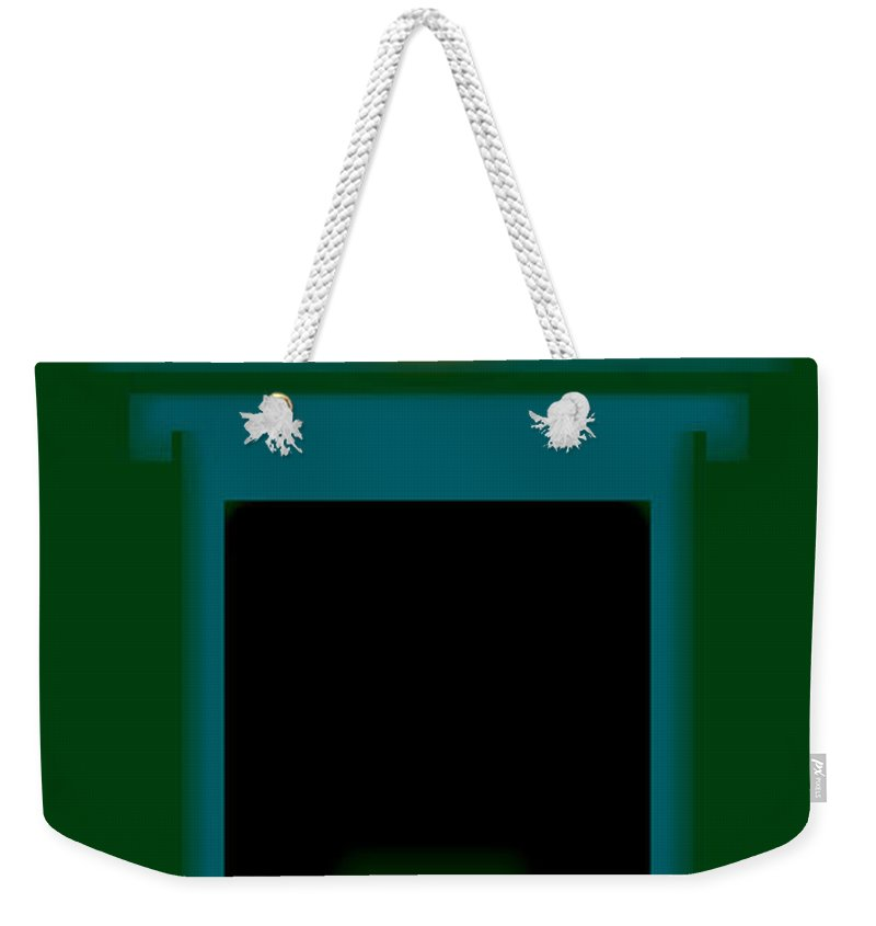 Palladian Weekender Tote Bag featuring the painting Palladian Green by Charles Stuart