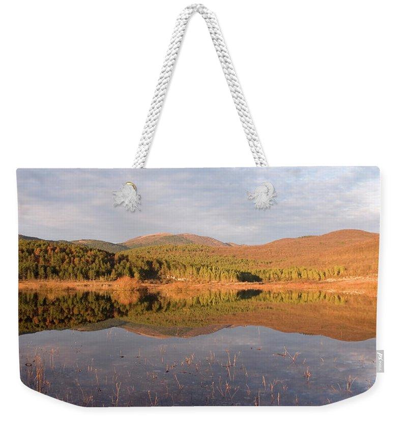 Seasonal Weekender Tote Bag featuring the photograph Palsko Lake by Ian Middleton