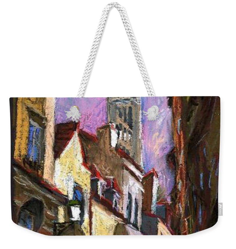 Pastel Weekender Tote Bag featuring the painting Paris Montmartre by Yuriy Shevchuk