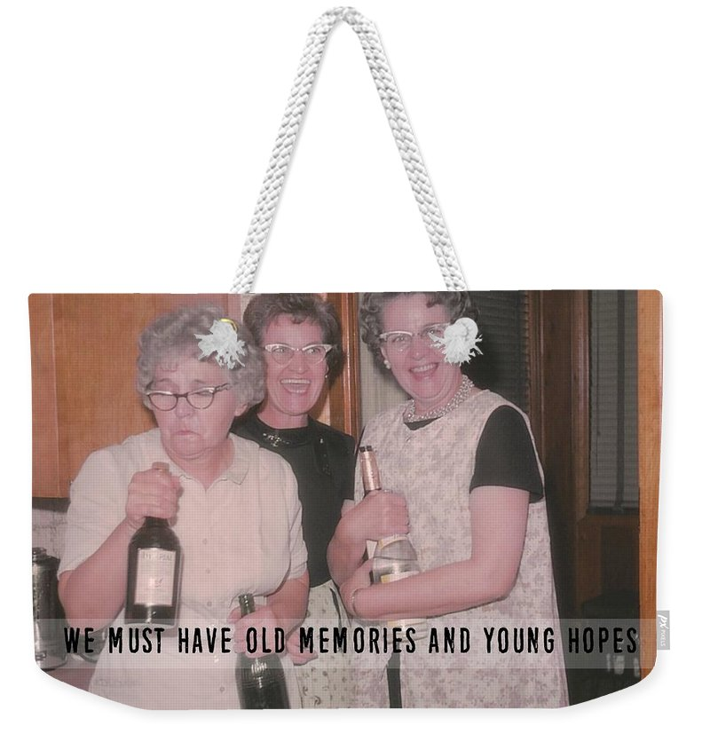 Vintage Weekender Tote Bag featuring the photograph Party Time Quote by JAMART Photography