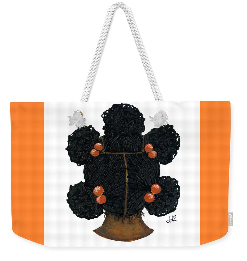 Naturally Me Kidz Weekender Tote Bag featuring the painting Peaches by Sonja Griffin Evans