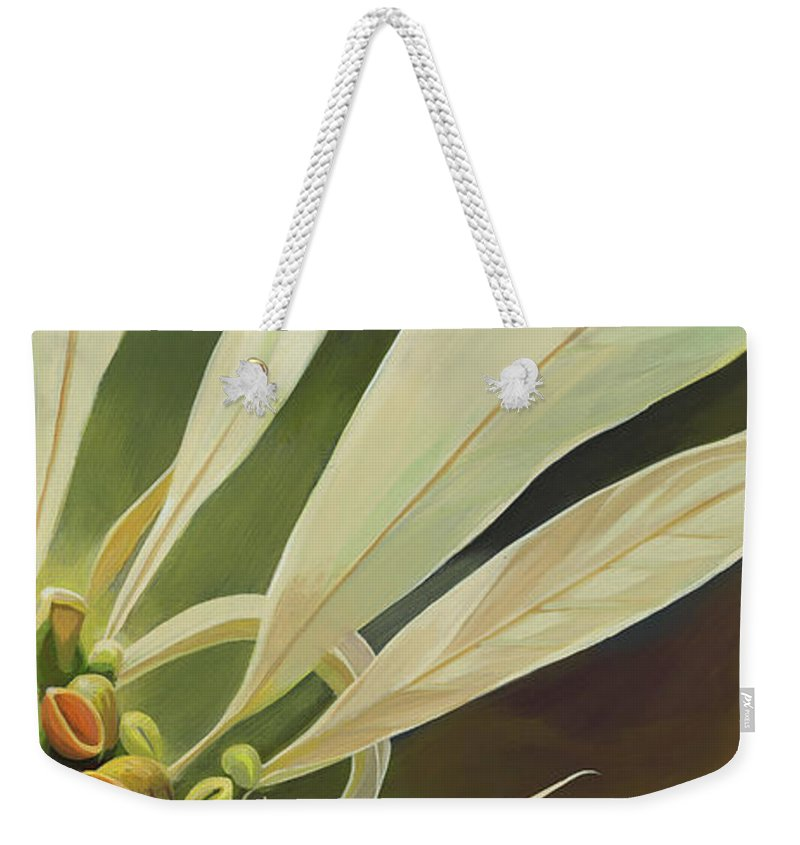 Botanical Weekender Tote Bag featuring the painting Phenomenal World by Hunter Jay